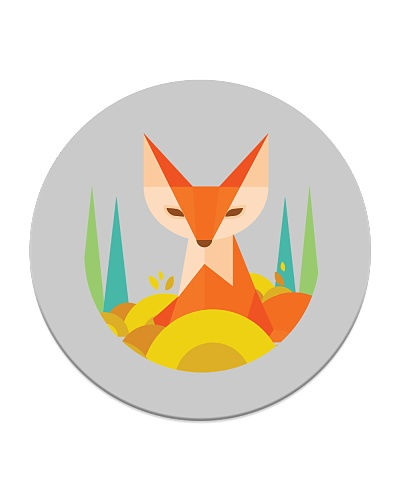 fox cute geometric tribal cartoon animal