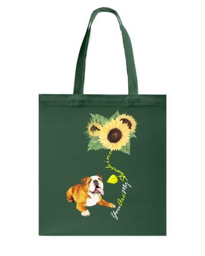 You Are My Sunshine English Bulldog Sunflower