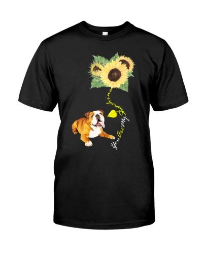 You Are My Sunshine English Bulldog Sunflower