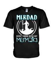 Don't Mess With My Mermaid V-Neck T-Shirt thumbnail