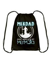 Don't Mess With My Mermaid Drawstring Bag thumbnail
