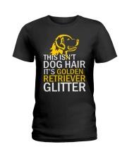 Golden Retriever Glitter Ladies T-Shirt thumbnail
