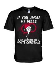 If You Jingle My Bells White Christmas V-Neck T-Shirt thumbnail