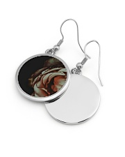 Rustic Rose Circle Earrings aos-earring-circle-front-lifestyle-10