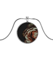 Rustic Rose Metallic Circle Necklace tile