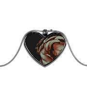 Rustic Rose Metallic Heart Necklace tile
