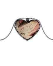 Burlesque Bud Metallic Heart Necklace tile