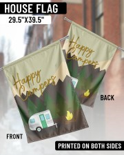"""Happy Camper Day 29.5""""x39.5"""" House Flag aos-house-flag-29-5-x-39-5-ghosted-lifestyle-03"""