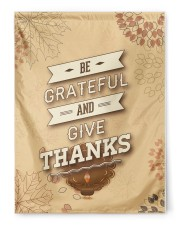 """Be Grateful - Thanksgiving 29.5""""x39.5"""" House Flag front"""