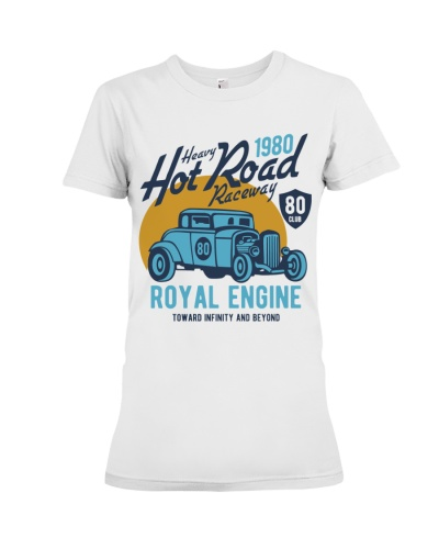 The royal engine heavy blue car