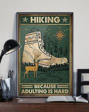 Hiking because adulting is hard 11x17 Poster lifestyle-poster-2