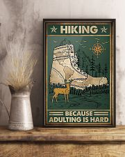 Hiking because adulting is hard 11x17 Poster lifestyle-poster-3