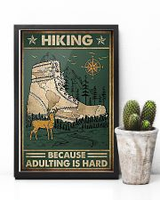 Hiking because adulting is hard 11x17 Poster lifestyle-poster-8