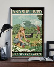 Gardening She lived happily ever after poster 11x17 Poster lifestyle-poster-2