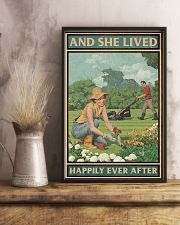 Gardening She lived happily ever after poster 11x17 Poster lifestyle-poster-3