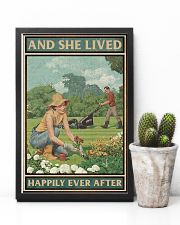 Gardening She lived happily ever after poster 11x17 Poster lifestyle-poster-8