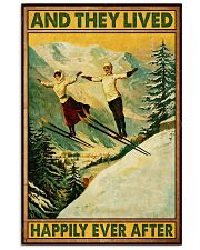 Skiing And they lived happily poster 11x17 Poster front