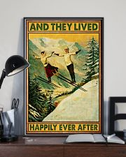 Skiing And they lived happily poster 11x17 Poster lifestyle-poster-2