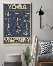 Yoga because punching people is frowned upon 11x17 Poster lifestyle-poster-1