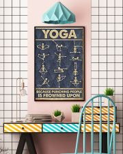 Yoga because punching people is frowned upon 11x17 Poster lifestyle-poster-6