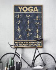 Yoga because punching people is frowned upon 11x17 Poster lifestyle-poster-7