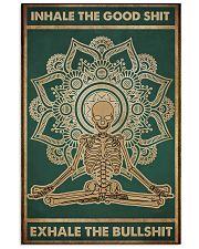 Meditation Inhale the good shit Skull Poster  11x17 Poster front