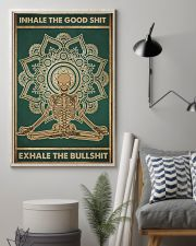 Meditation Inhale the good shit Skull Poster  11x17 Poster lifestyle-poster-1