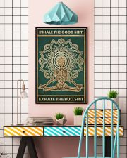 Meditation Inhale the good shit Skull Poster  11x17 Poster lifestyle-poster-6
