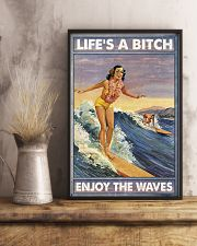 Surfing Lifes a bitch Enjoy the waves 11x17 Poster lifestyle-poster-3