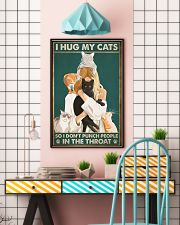 I hug my cats so i dont punch people poster 11x17 Poster lifestyle-poster-6
