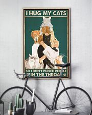 I hug my cats so i dont punch people poster 11x17 Poster lifestyle-poster-7
