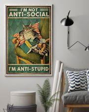 Cat Im not aniti social Im antistupid 11x17 Poster lifestyle-poster-1