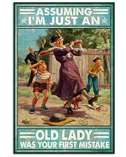 Base Ball Assuming Im just an old lady Poster 11x17 Poster front