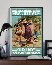 Base Ball Assuming Im just an old lady Poster 11x17 Poster lifestyle-poster-2