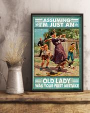 Base Ball Assuming Im just an old lady Poster 11x17 Poster lifestyle-poster-3