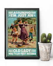 Base Ball Assuming Im just an old lady Poster 11x17 Poster lifestyle-poster-8