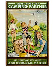 I asked God for a camping partner Family poster 11x17 Poster front