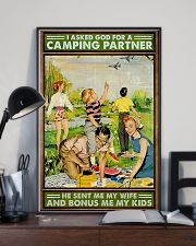 I asked God for a camping partner Family poster 11x17 Poster lifestyle-poster-2