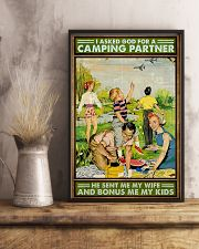 I asked God for a camping partner Family poster 11x17 Poster lifestyle-poster-3