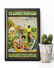 I asked God for a camping partner Family poster 11x17 Poster lifestyle-poster-8