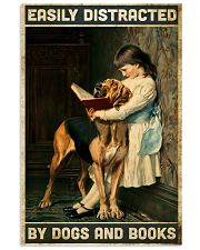Easily distracted by books and dogs 11x17 Poster front