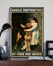 Easily distracted by books and dogs 11x17 Poster lifestyle-poster-2