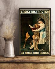 Easily distracted by books and dogs 11x17 Poster lifestyle-poster-3