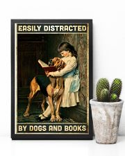 Easily distracted by books and dogs 11x17 Poster lifestyle-poster-8