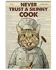 Cat never trust a skinny cook poster 11x17 Poster front