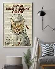 Cat never trust a skinny cook poster 11x17 Poster lifestyle-poster-1