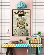 Cat never trust a skinny cook poster 11x17 Poster lifestyle-poster-6