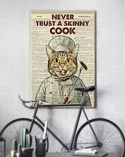 Cat never trust a skinny cook poster 11x17 Poster lifestyle-poster-7