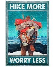 Hike more worry less poster 11x17 Poster front