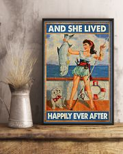 Fishing and she lived happily ever afte 11x17 Poster lifestyle-poster-3
